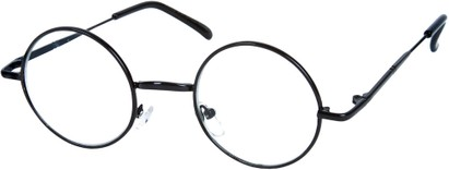 Angle of SW Round Clear Style #7620 in Black Frame, Women's and Men's