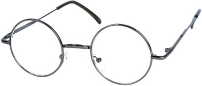 Angle of SW Round Clear Style #7620 in Grey Frame, Women's and Men's