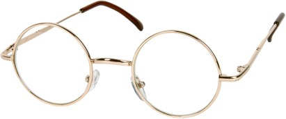 Angle of SW Round Clear Style #7620 in Gold Frame, Women's and Men's