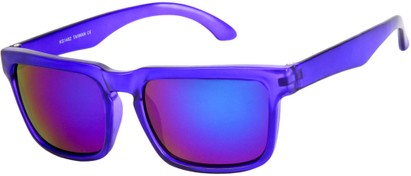 Angle of Subzero #1673 in Purple Frame with Purple Mirrored Lenses, Women's and Men's Aviator Sunglasses