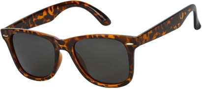 Angle of Cove #9966 in Tortoise Frame with Grey Lenses, Women's and Men's Retro Square Sunglasses