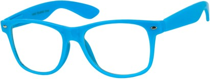 Angle of SW Clear Style #5322 in Light Blue Frame, Women's and Men's