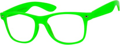 Angle of SW Clear Style #5322 in Lime Green Frame, Women's and Men's