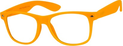 Angle of SW Clear Style #5322 in Orange Frame, Women's and Men's