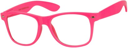 Angle of SW Clear Style #5322 in Hot Pink Frame, Women's and Men's