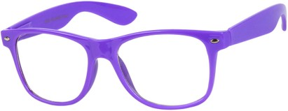 Neon Purple Wayfarer Nerd Glasses