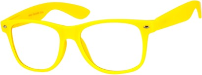 Neon Yellow Wayfarer Nerd Glasses