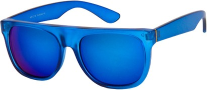 Flat Top Sunglasses with Mirrored Lenses