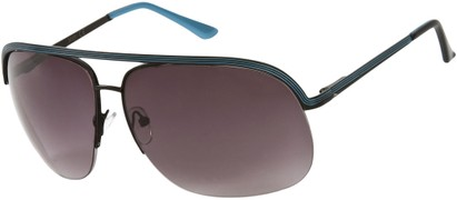 Angle of SW Aviator Style #9260 in Black/Blue Frame, Women's and Men's