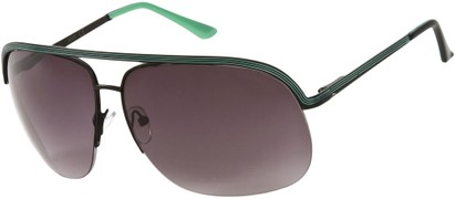 Angle of SW Aviator Style #9260 in Black/Green Frame, Women's and Men's
