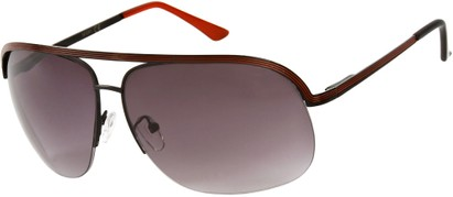 Angle of SW Aviator Style #9260 in Black/Red Frame, Women's and Men's