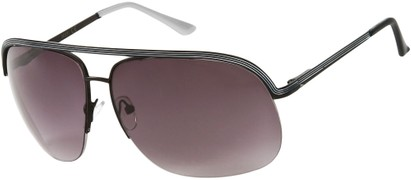 Angle of SW Aviator Style #9260 in Black/White Frame, Women's and Men's