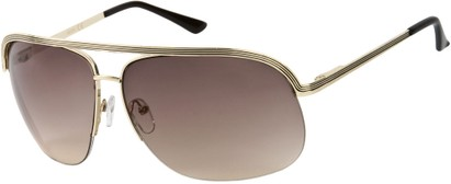 Angle of SW Aviator Style #9260 in Gold/Black Frame, Women's and Men's