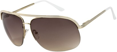 Angle of SW Aviator Style #9260 in Gold/White Frame, Women's and Men's
