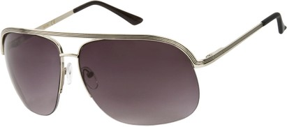 Angle of SW Aviator Style #9260 in Silver Frame, Women's and Men's