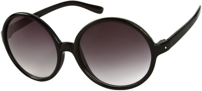 Angle of Jetty #8885 in Black Frame, Women's Round Sunglasses