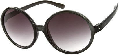 Angle of Jetty #8885 in Grey Frame, Women's Round Sunglasses