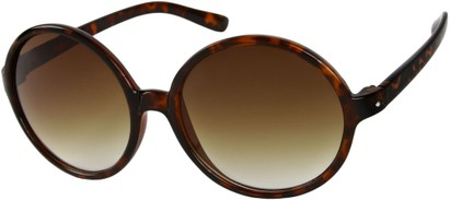 Angle of Jetty #8885 in Brown Tortoise Frame, Women's Round Sunglasses