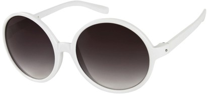 Angle of Jetty #8885 in White Frame, Women's Round Sunglasses