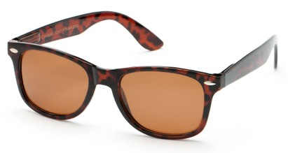 Angle of Chile #3368 in Tortoise Frame with Brown Lenses, Women's and Men's Retro Square Sunglasses