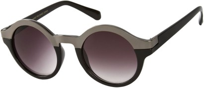 Angle of SW Retro Style #9277 in Black/Grey Frame, Women's and Men's
