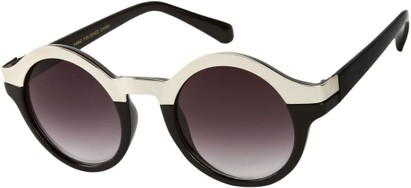 Angle of SW Retro Style #9277 in Black/Silver Frame, Women's and Men's