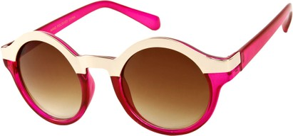 Angle of SW Retro Style #9277 in Pink/Gold Frame, Women's and Men's