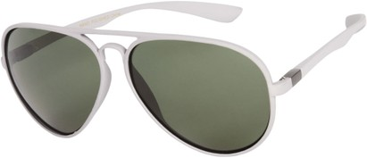 Angle of SW Polarized Aviator Style #1422 in Matte Grey Frame, Women's and Men's