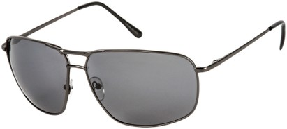 Angle of Shane #9870 in Matte Grey Frame with Smoke Lenses, Women's and Men's