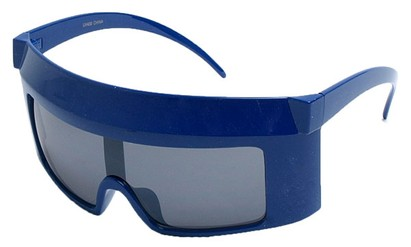 Angle of SW Funky Shield Style #10898 in Blue Frame, Women's and Men's