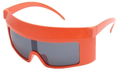 Angle of SW Funky Shield Style #10898 in Orange Frame, Women's and Men's