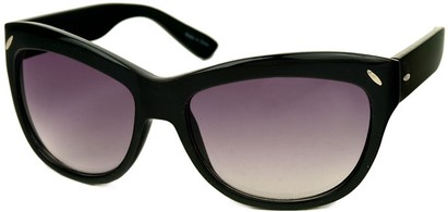 Angle of SW Retro Style #523 in Black Frame, Women's and Men's