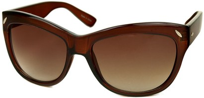 Angle of SW Retro Style #523 in Clear Brown Frame, Women's and Men's