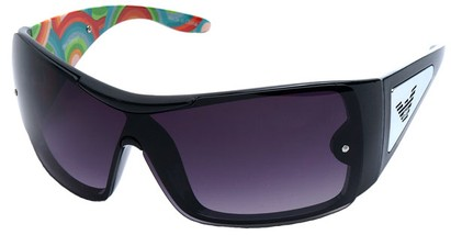 Angle of SW Shield Style #3080 in Black Frame, Women's and Men's