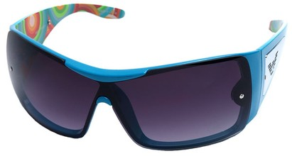Angle of SW Shield Style #3080 in Blue Frame, Women's and Men's