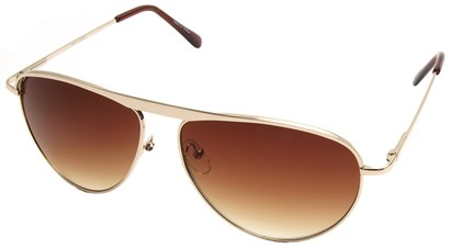 Angle of SW Celebrity Style #2420 in Gold Frame with Gold Lenses, Women's and Men's