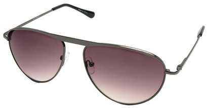 Angle of SW Celebrity Style #2420 in Grey Frame with Gradient Smoke Lenses, Women's and Men's
