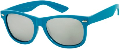 Angle of SW Mirrored Retro Style #8927 in Blue, Women's and Men's