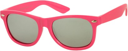 Angle of SW Mirrored Retro Style #8927 in Pink, Women's and Men's