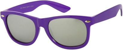 Angle of SW Mirrored Retro Style #8927 in Purple, Women's and Men's