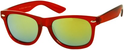 Angle of SW Mirrored Retro Style #8927 in Red, Women's and Men's