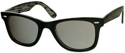 Angle of SW Retro Style #518 in Black Frame, Women's and Men's