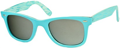 Angle of SW Retro Style #518 in Light Blue Frame, Women's and Men's