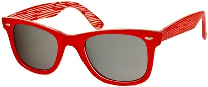 Angle of SW Retro Style #518 in Red Frame, Women's and Men's
