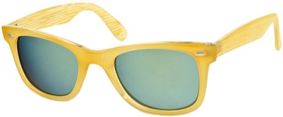 Angle of SW Retro Style #518 in Clear Yellow Frame, Women's and Men's