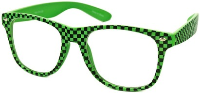 Green Checkered Retro Sunglasses