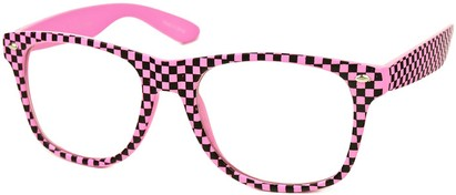 Angle of SW Clear Checkered Retro Style #548 in Pink Checkered, Women's and Men's