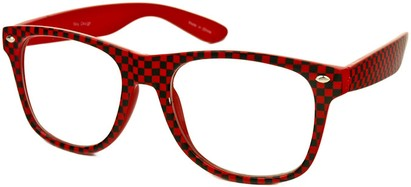 Red Checkered Retro Sunglasses