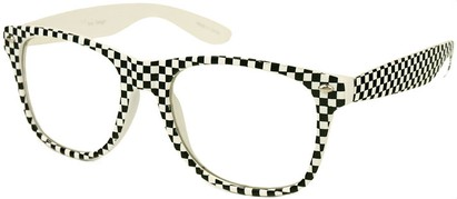 White Checkered Retro Sunglasses