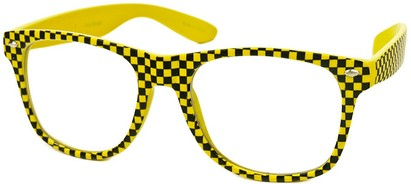 Angle of SW Clear Checkered Retro Style #548 in Yellow Checkered, Women's and Men's